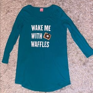 Wake Me With Waffles Cute Night Gown